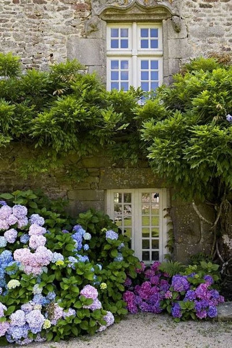 Beautiful french cottage garden design ideas 36