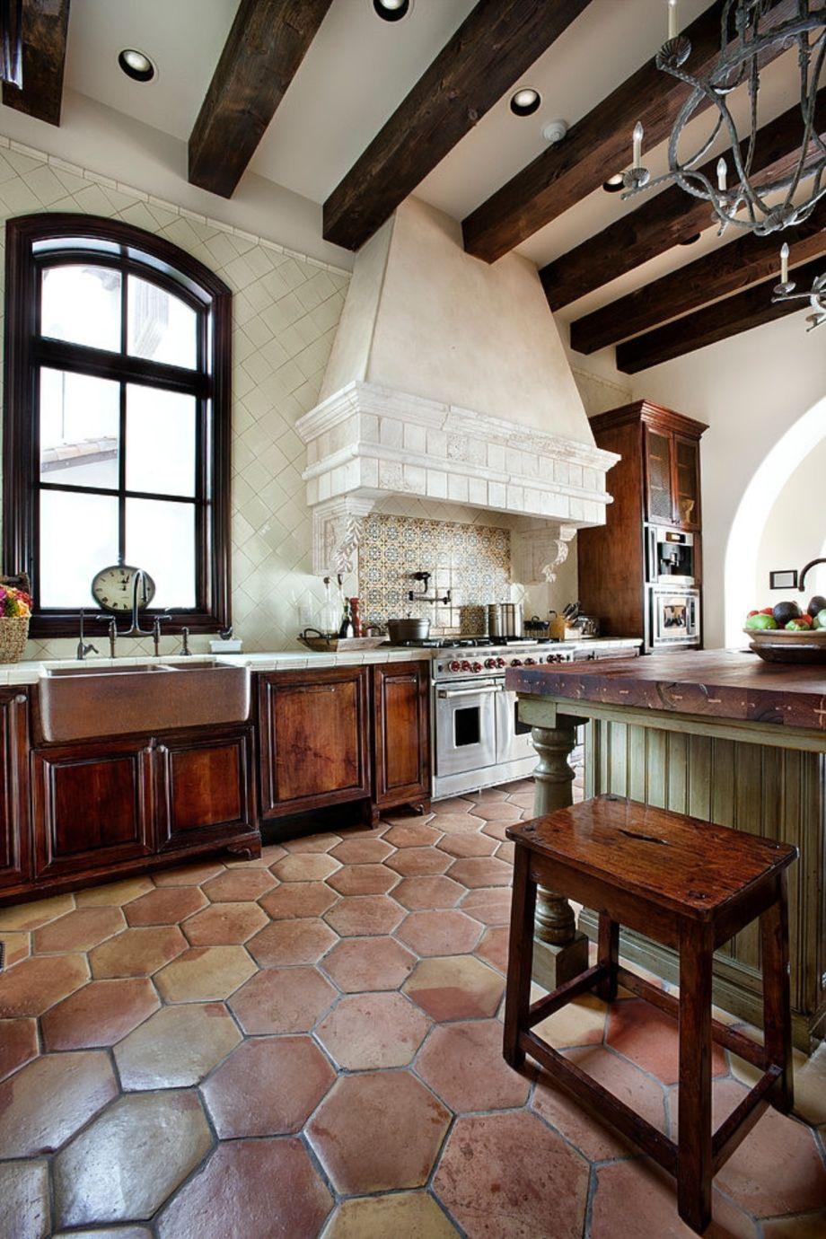 Beautiful hampton style kitchen designs ideas 36
