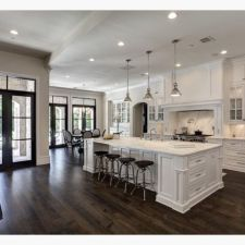 Beautiful hampton style kitchen designs ideas 44