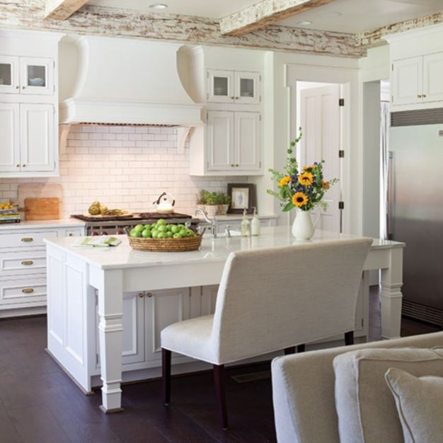 Beautiful hampton style kitchen designs ideas 47