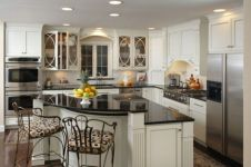 Beautiful kitchens ideas with black granite 39