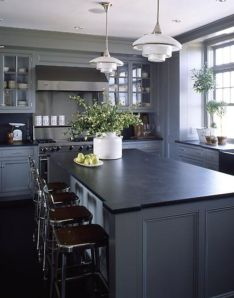 Beautiful kitchens ideas with black granite 57