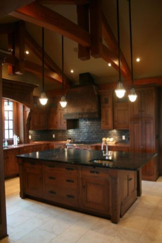 Beautiful kitchens ideas with black granite 58