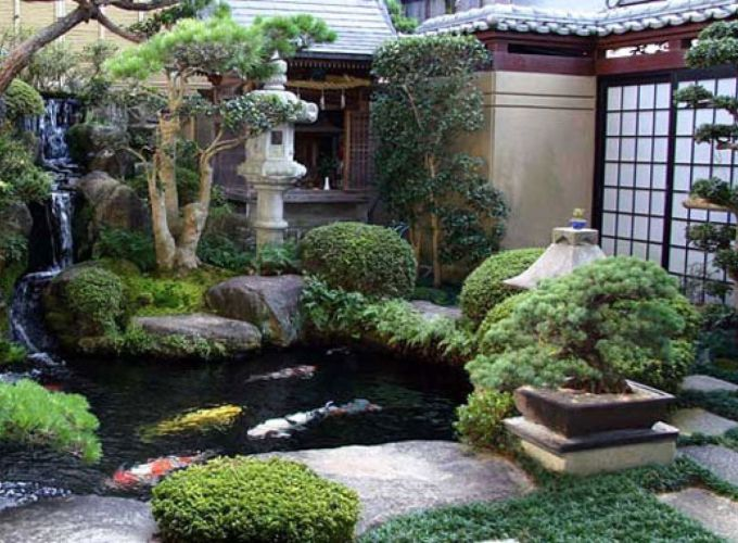 Beautiful modern japanese garden landscape ideas 63