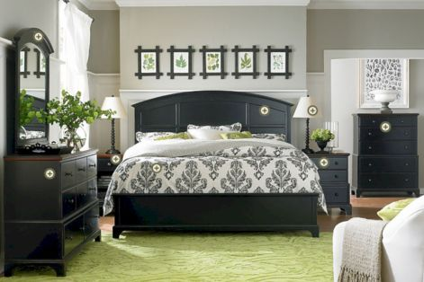 Black and white bedroom furniture 01
