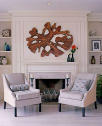 Cool decorating ideas for large living room wall 31