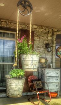 Creative front porch garden design ideas 03