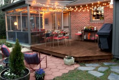 Creative front porch garden design ideas 12