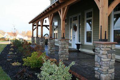 Creative front porch garden design ideas 17