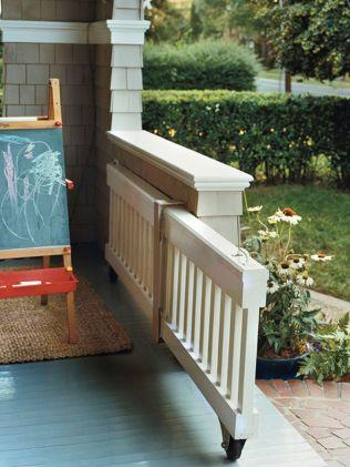 Creative front porch garden design ideas 25