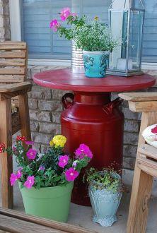 Creative front porch garden design ideas 27