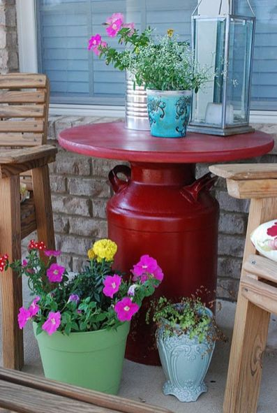 Creative front porch garden design ideas 27