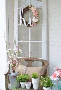 Creative front porch garden design ideas 40