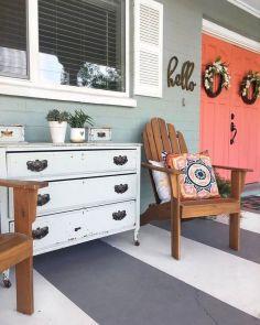 Creative front porch garden design ideas 49