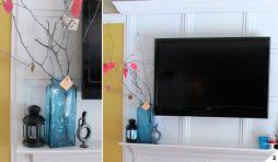 Creative ideas hiding a tv in the living room 04