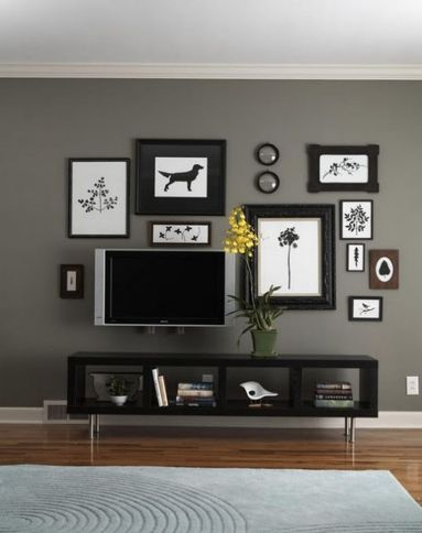 Creative ideas hiding a tv in the living room 33