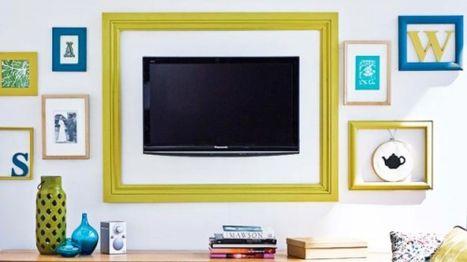 Creative ideas hiding a tv in the living room 46