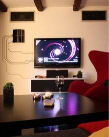Creative ideas hiding a tv in the living room 56
