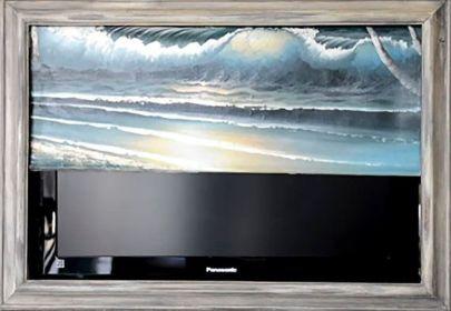 Creative ideas hiding a tv in the living room 58