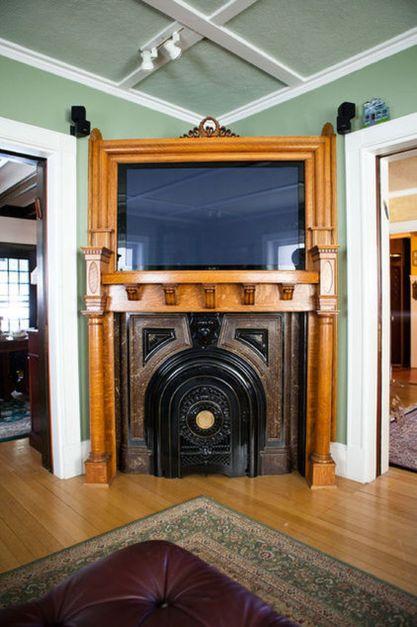 Creative ideas hiding a tv in the living room 70