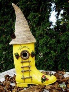 Cute and cool garden art for kids design ideas 16