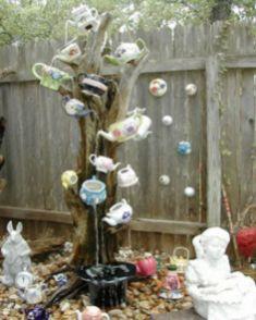 Cute and cool garden art for kids design ideas 37