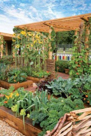 Cute and simple school garden design ideas 34