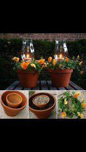 Cute and simple tiny patio garden ideas 22