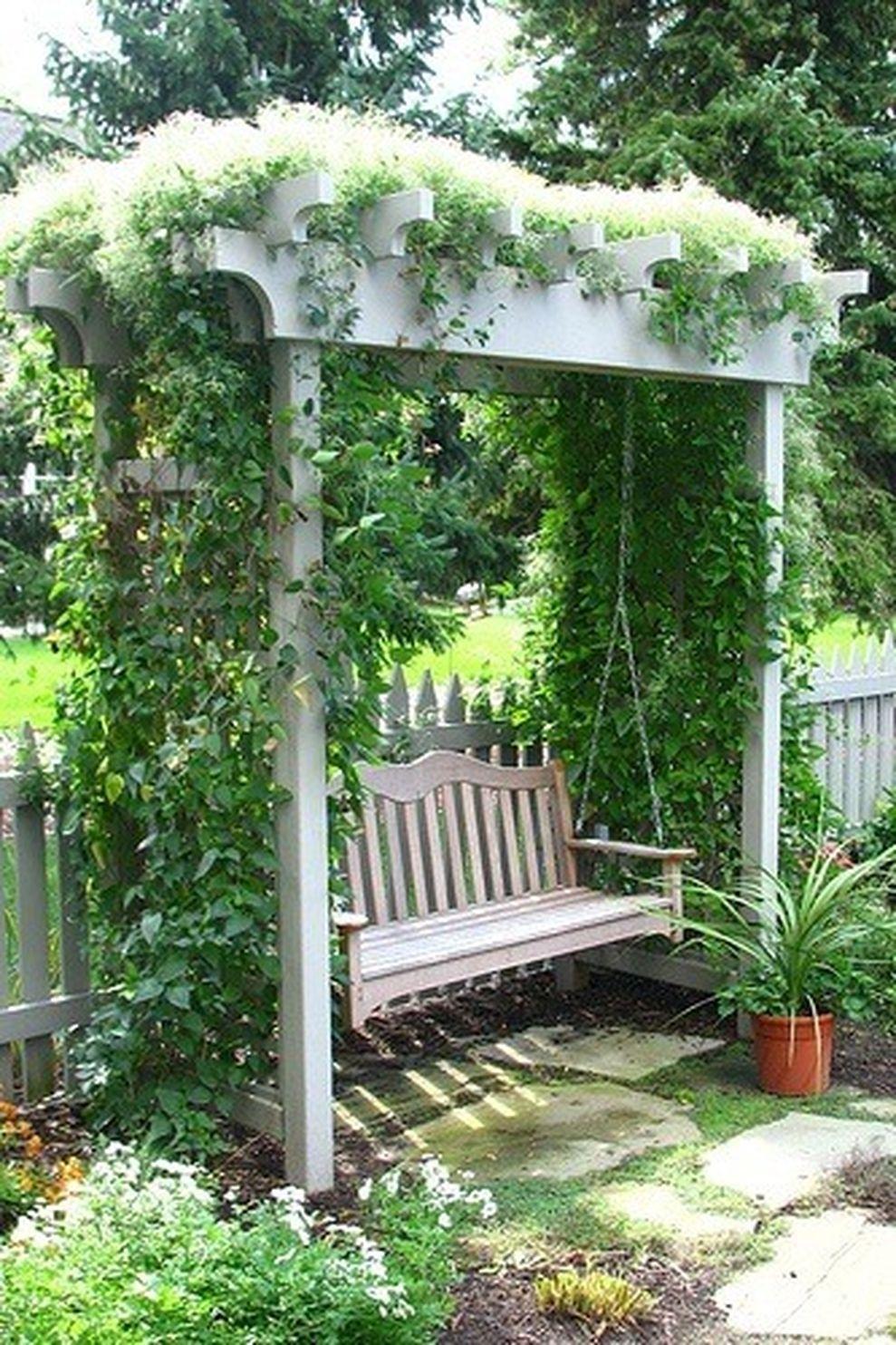 Cute and simple tiny patio garden ideas 50