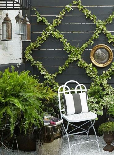 Cute and simple tiny patio garden ideas 66