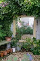 Cute and simple tiny patio garden ideas 73