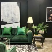Dark green living room furniture 29