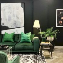 Dark green living room furniture 29