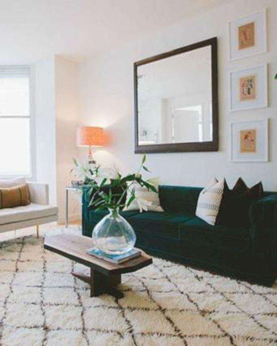 Dark green living room furniture 39 - Round Decor