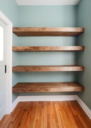 Easy and affordable diy wood closet shelves ideas 28