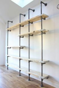 Easy and affordable diy wood closet shelves ideas 47