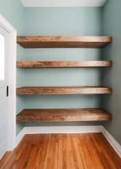 Easy and affordable diy wood closet shelves ideas 66