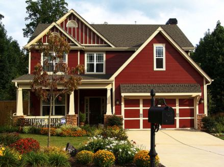 Exterior house colors with brown roof 07