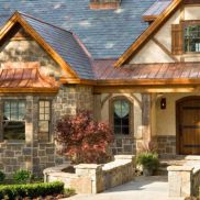 Exterior house colors with brown roof 12
