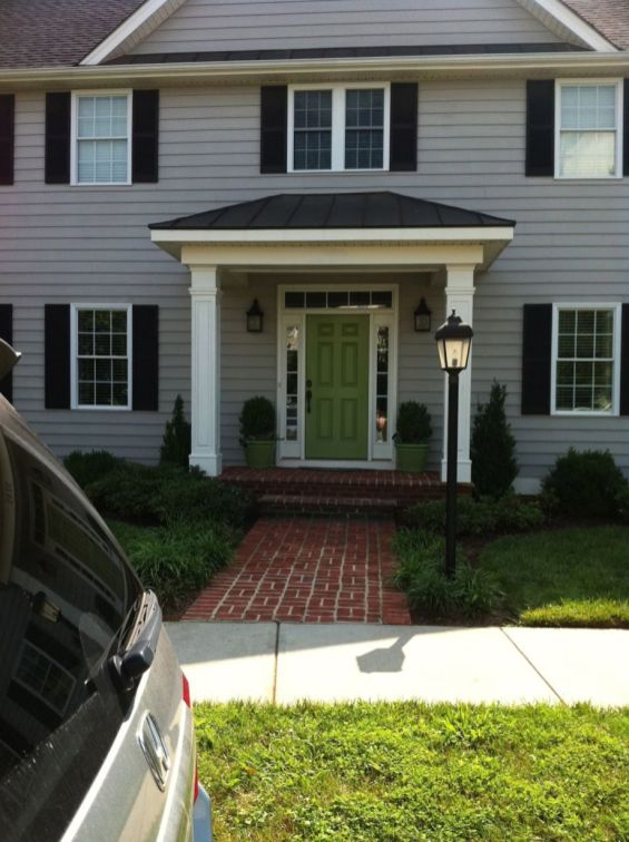 Exterior house colors with brown roof 14