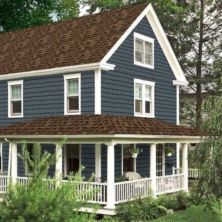 Exterior house colors with brown roof 31