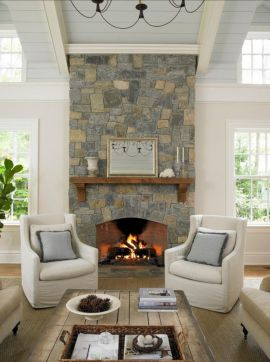 Furniture placement ideas with fireplace 02