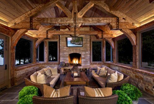 Furniture placement ideas with fireplace 03