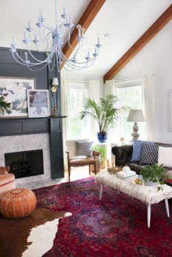 Furniture placement ideas with fireplace 20