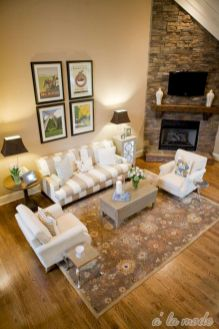 Furniture placement ideas with fireplace 23