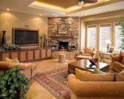 Furniture placement ideas with fireplace 29