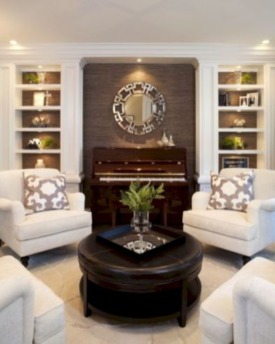 Furniture placement ideas with fireplace 41