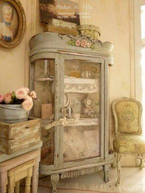 Gray shabby chic furniture 49