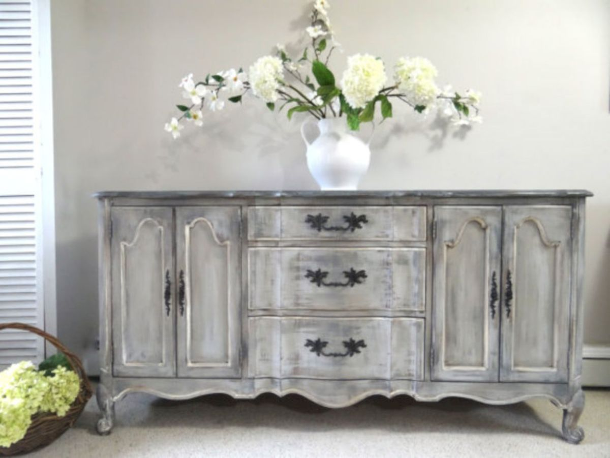 57 Stylish Gray Shabby Chic Furniture Ideas