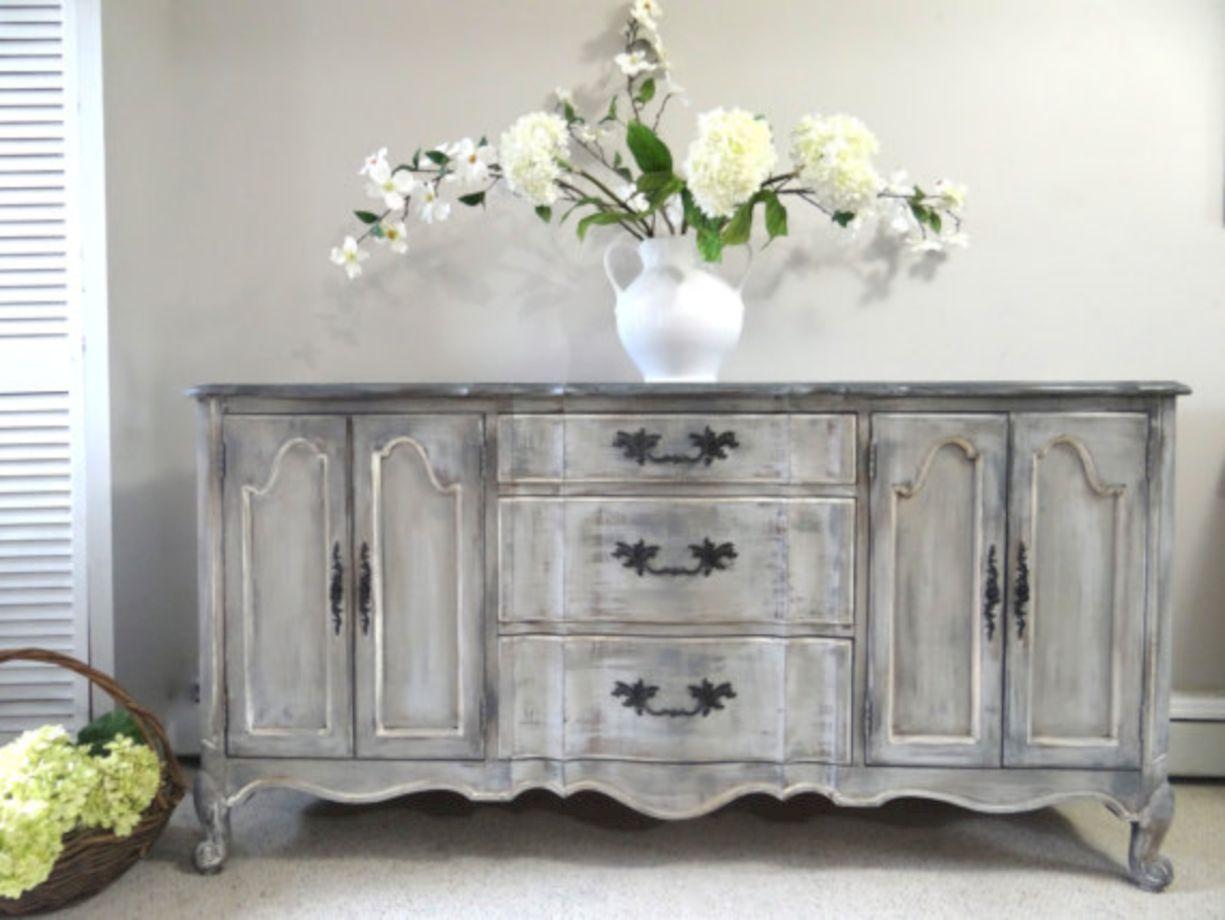 57 Stylish Gray Shabby Chic Furniture Ideas Roundecor
